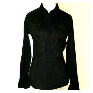Sequined Detail Blouse